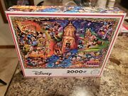 Ceaco Disney 2000 Piece Jigsaw Puzzle Mickey Mouse And Friends Carnival Rare