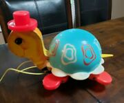 Vintage 1960's Fisher Price - Turtle Pull Toy