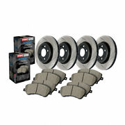 Stoptech Rear And Front -brake Rotor And Rear And Front Brake Pads, Sold As Kit
