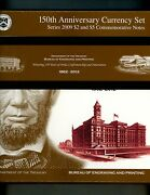 150th Anniversary Currency Set 2012 Issued Bep Lincoln 2 And 5 Notes From 2009