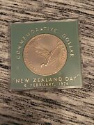 New Zealand February 6 1974 Commemorative One Dollar Coin With Case