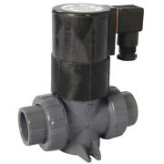 Hayward Sv10050ste 120vac Pvc Solenoid Valve, Normally Closed, 1/2 In Pipe Size