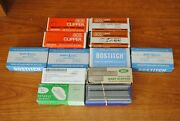 Vintage Lot Variety Bostitch Ace Swingline Staples 12 Boxes Full Partial Chisel