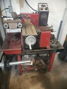 Van Norman 243 Disc And Drum Brake Lathe W/ Bench And Adapters Variable Speed Feed