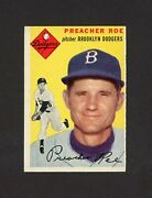 1954 Topps 14 Preacher Roe Extremely Rare Gray Back 21585