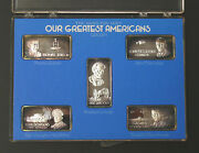 Our Greatest Americans 5 Silver Bar Set - Group 1 - Hamilton Mint Issued