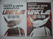 Ds 1998 Unkle Rabit In Your Headlights Futura Poster Set Of K-1-13 _23741