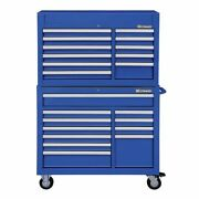 Westward 7cy35 42w Tool Chest And Cabinet Combination 22 Drawers Blue