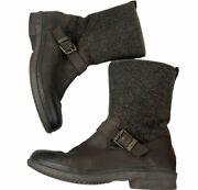 Uggs Australia Women Brown Leather Waterproof Robbie Stout Boots Us Size 8