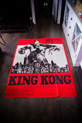 King Kong Rko 1933 B 4x6 Ft French Grande Movie Poster Rerelease 1960and039s Used