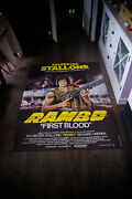 Rambo First Blood Stallone 4x6 Ft French Grande Movie Poster Original 1982