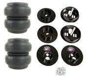 Rear Air Ride Suspension Kit Slam Re-7 Air Bags Mounting Cups For 65-70 Cadillac