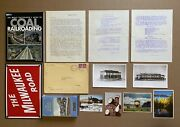 Lot Of Mixed Vintage Rr And Model Railroad Collectibles Photos Postcards Sign