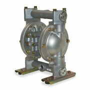 Dayton 6py55 Double Diaphragm Pump 316 Stainless Steel Air Operated Ptfe 35