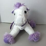 Dandee Collectors Choice Flying Horse Plush Multi Color Pony Wings 12 White