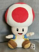 Super Mario Red Toad 8 Plush Toy Doll New