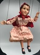 Little Red Riding Hazelleand039s Marionette String Puppet Vintage Fairy Tale