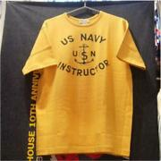 Hellerand039s Cafe Us Navy T-shirt Tops Usn Instructor Yellow Anchor 38 From Japan