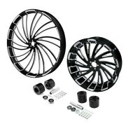 30 Front 18and039and039 Rear Wheel Rim And Disc Hub Fit For Harley Electra Road Glide 08-21