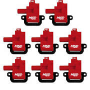 Msd Ignition Coil - Blaster Coil - Female Socket - Red - Gm Ls-series - Set Of 8