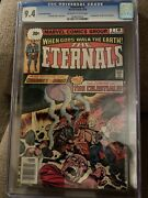 Eternals 2 Cgc 9.4 Rare .30 Cent Variant 1 Hard To Find White Pages. 1st Ajak
