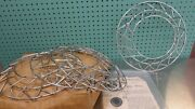 Vintage Mansfield Simul Simulated Wheels Criss Cross Wire Chrome Caps 1949-1952