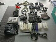 Spyder Mr1 Paintball Lot W/ Gear And Accessories Gun Detachable Stock Mask Tank