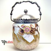 Victorian Mount Washington Glass Biscuit Jar - Possibly Experimental - 1890's