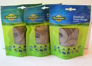 Petsafe Rawhide Treat Rings Dog Treat Refills For Busy Buddy Toy Exp - 06/23