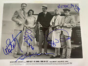 Bonnie And Clyde Movie Cast Autographed Psa Loa Beatty Dunaway Hackman Parsons
