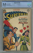 Superman 67 Cbcs 5.5 Perry Como Cover Off-white To White Pages 1950