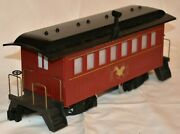 3 - Mountain Central Railroad Passenger Cars And Caboosered And Gold Kalamazoo