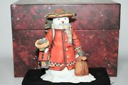 Lang And Wise Old Glory Collection Snowman Winterand039s Garden 1st Edition