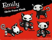 Emily The Strange Skele-posse Kitty Plush - New Old Stock With Tags - 3 Choices