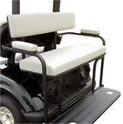 2 In 1 Combo Seat Kit And Golf Bag Carrier- White For Ezgo Txt Golf Carts
