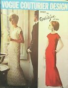 Vogue Couturier Design Pattern 1452 Galitzine Of Italy Size 14