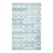 Feizy Sabrine 8and0396 X 11and0396 Minimal Hand Knot Geo Area Rug In Bonnie Blue/ivory