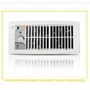 Register Booster Duct Fan Heating A/c Flush Fit White Air Circulation Vent Hvac