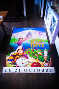 Beauty And The Beast Walt Disney 4x6 Ft Shelter D/s Movie Poster Original 1992