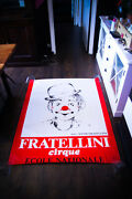Fratellini Circus 1980and039s 4x6 Ft Shelter Original Music Concert Poster Art