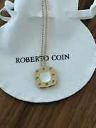 Roberto Coin Pois Mois Mother Of Pearl 18 K Yellow Gold Large Pendant Necklace