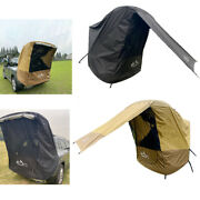 Suv Trunk Tent Car Rear Awning Camping Tour Barbecue Sun Shade Uv Protection