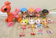 Lalaloopsy Littles Little Sister And Babies Dolls Lot 10 Pc. Lot 4 Babies 4 Sister