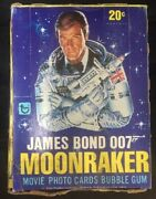 James Bond Moonraker Trading Cards Box With 36 Sealed Packs By Topps From 1979