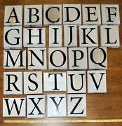 Stampin Up Monogram Alphabet - Entire Set Of 26 Giant Wood Mounted Rubber Stamps