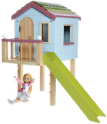 Lottie Dollhouse Wooden Tree House Dolls   Wooden Doll House Playset   Made With