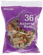 Bazic Coin Wrappers Rolls, Assorted Quarter Dime Nickel Penny, Made In Usa,...