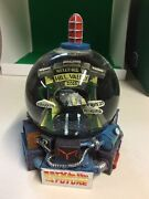 1998 Back To The Future Welcome To Hill Valley Snow Globe Clock Tower Delorean