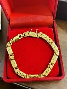 Real 22k 916 Yellow Saudi Gold 6andrdquo Long Small Size Womenandrsquos Baht Bracelet 5mm 5g