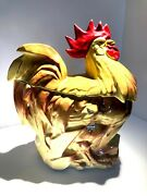 The Rooster - Cookie Jar, Mccoy Pottery, 1950's, 55, Red Comb And Waddle, Brown And